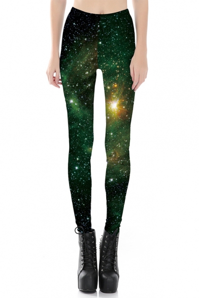 Hot Fashion Galaxy Printed Skinny Basic Leggings