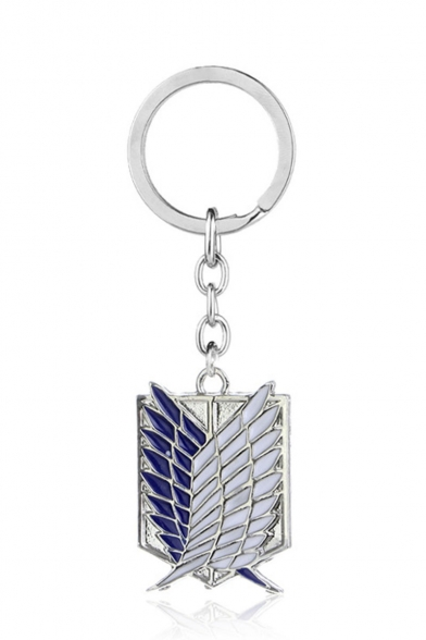 New Arrival Color Block Wing Design Chic Key Ring