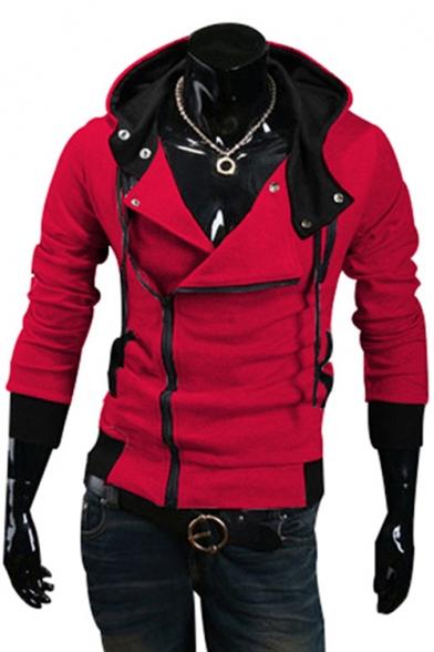 New Arrival Long Sleeve Casual Leisure Zip Placket Hoodie