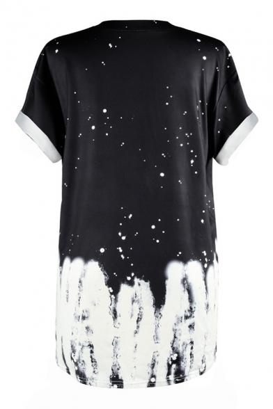 Street Short Printed T Round Skull Letter Fashion Neck Style New Sleeve Shirt 5Wna6qTcw