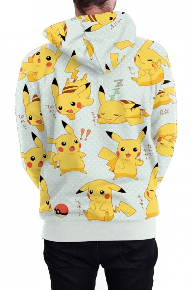 Cartoon Hoodie Casual Printed for Long Arrival 3D New Couple Sleeve UOfxEqpw