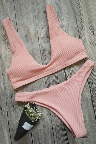 Hot Fashion Basic Simple Plain Sexy Bikini Swimwear