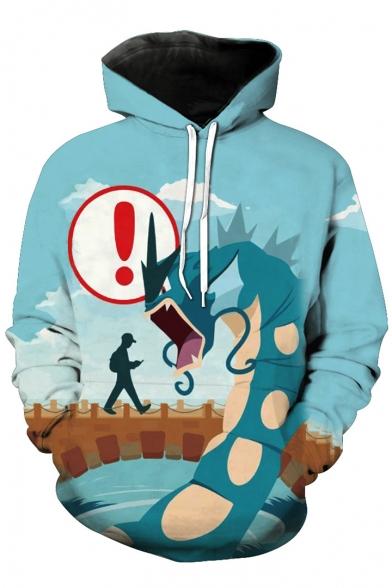 Unisex Hooded Cartoon Dragon 3D Printed Long Sleeve Hoodie Sweatshirt