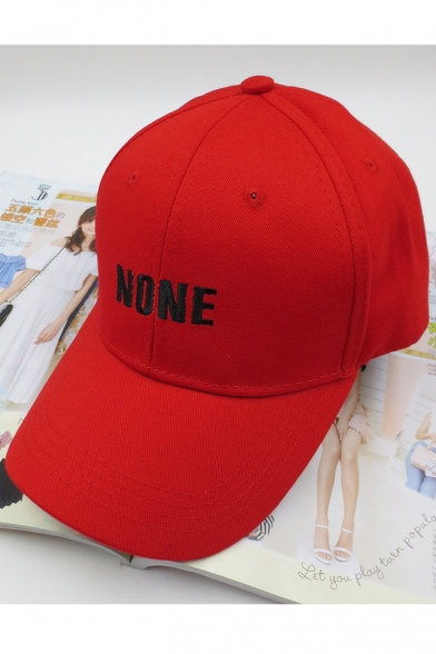 Fashion Adjustable Embroidery NONE Letter Pattern Outdoor Baseball Cap