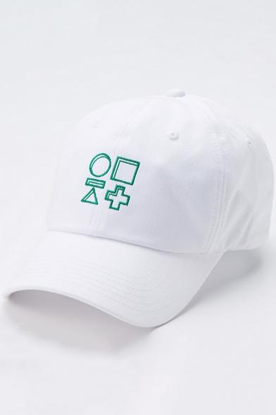 Fashion Unisex Embroidery Geometric Pattern Adjustable Outdoor Baseball Cap