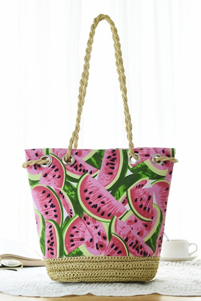 Summer's Watermelon Printed Holiday Beach DIY Hand-Knitting ...