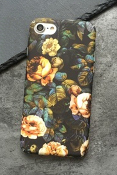 Vintage Floral Printed Fashion Mobile Phone Case for iPhone