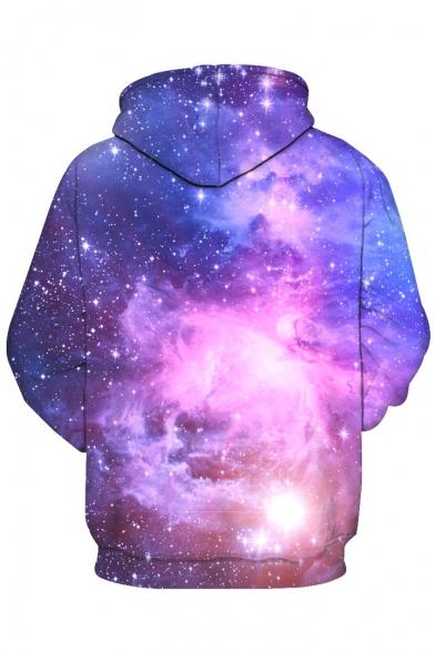 Block Color Sleeve Galaxy Sweatshirt Hoodie Fashion Hooded 3D Long vIxTg