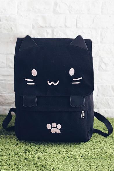Lovely Cartoon Cat Pattern Leisure School Backpack