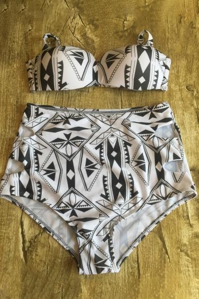 Bikinis Top Block High with Bottom Women's Waist Halter Color Wqtxpw6P8A