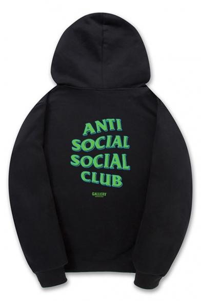 ef5d79f40 Fashion Drawstring Hooded ANTI SOCIAL SOCIAL CLUB Letter Printed Hoodie  Sweatshirt