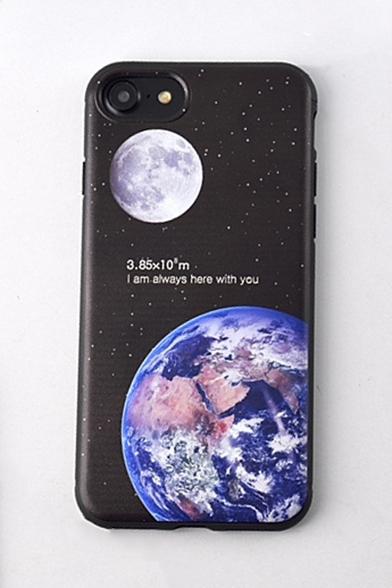 Fashion Moon Earth Galaxy Printed TPU Soft Case for iPhone