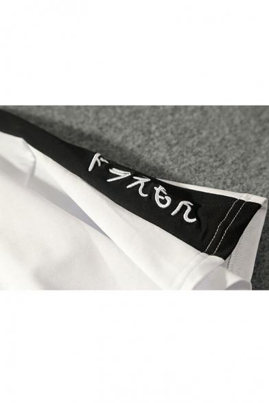Sleeve Hot Stripe Fashion Round Neck Short Korean Tee rf6fSqwX