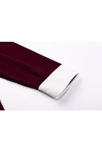 Sleeve Peter Flared Half Chic Contrast Fashion Collar Midi Dress Pan 5SqxgRwZnX