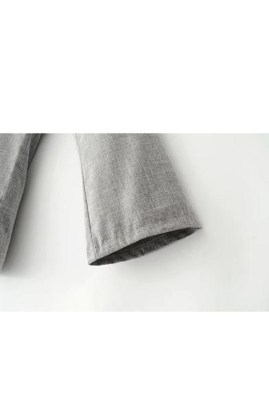 Fashion Lace-Up Corset Waist Loose Leisure Plain Pants