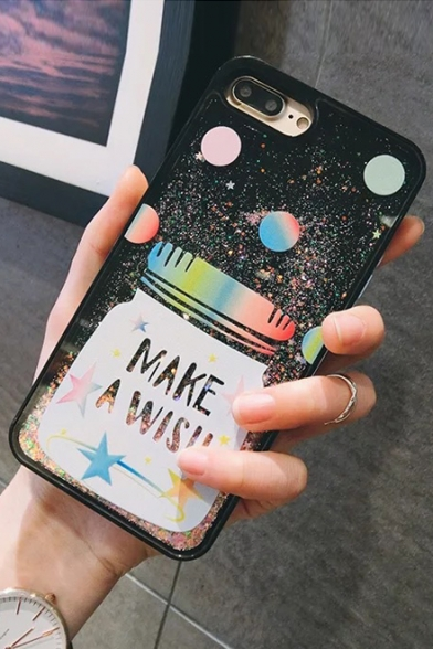 New Fashion Quicksand Letter Pattern Mobile Phone Case for iPhone