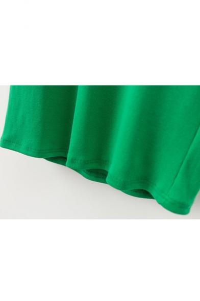 Turtle Neck Long Sleeve Basic Simple Plain Midi Shift Knit Dress