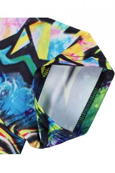 New Stylish 3D Gorilla Egypt Pharaoh Printed Round Neck Short Sleeve T-Shirt