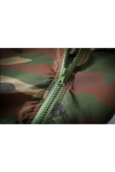 Up Pattern Printed Hooded Zip Camouflage Cartoon Cat Classic Coat pq7wO7Bg