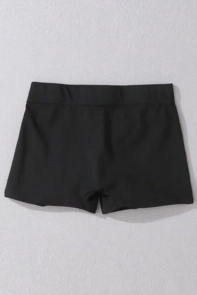 Summer's Hot Fashion Elastic Waist Plain Skinny Yoga Hot Pants Shorts