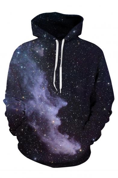 Beautiful Galaxy Cloud 3D Printed Long Sleeve Hoodie