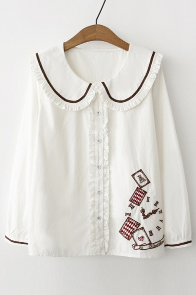 Girls School Uniforms French Toast has updated their Long Sleeve Peter Pan Collar Blouse. A beautiful classic button-down shirt. French Toast is introducing a new classic short sleeve pointed collar shirt. This button-down also has a cute front pocket! It is a classy look for any girls style.