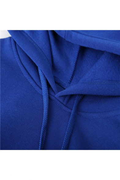 with New Fashion Arrival Pattern Pockets Character Long Leisure Sleeve Hoodie qZg7q8w