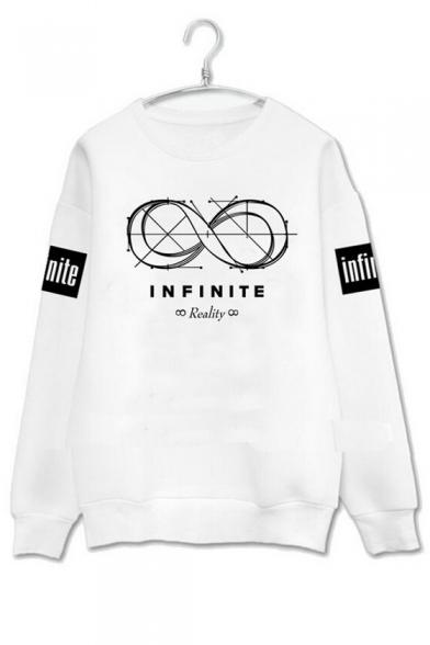 Fashion Graphic Printed Long Sleeve Round Neck Pullover Sweatshirt