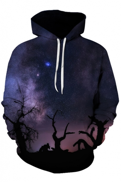 Couple Digital Hoodie Pattern Fashion Hot Leisure Loose for Galaxy vq8nwnz