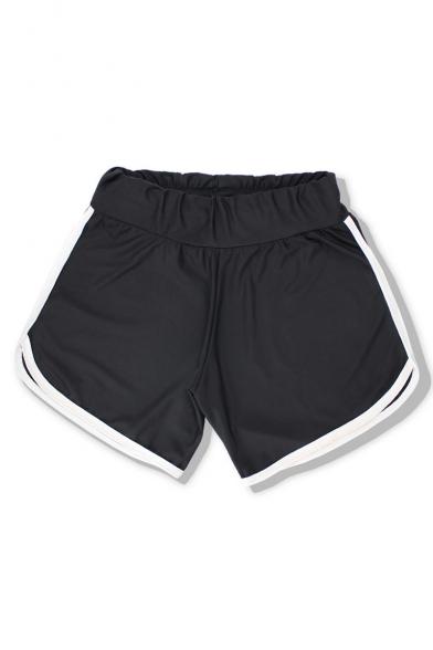 New Arrival Summer's Elastic Waist Striped Hem Loose Sports Shorts