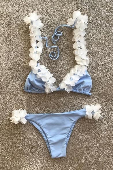 Straps Floral Bikini New Embellished Collection Fashion Swimwear Sexy wI76xAPq