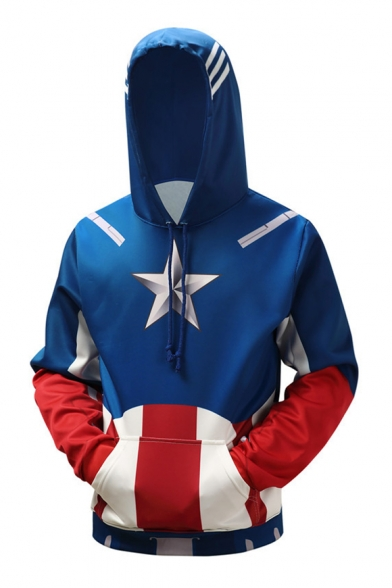 New Arrival Fashion Color Block Long Sleeve Casual Sports Hoodie