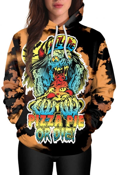 New Arrival Fashion Punk Style Monster Pattern Long Sleeve Hoodie