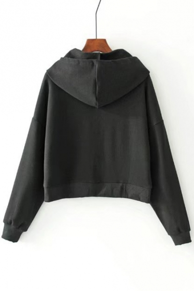 Casual Letter Comfort Leisure Embroidered Loose Fashion Hoodie xIg8RHx