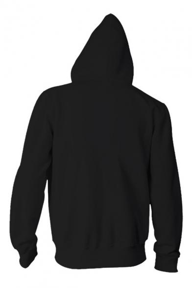 New Fashion Digital Color Block Animal Printed Long Sleeve Zip Up Unisex Hoodie