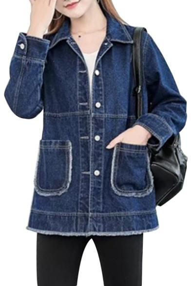 Crossed the Classic Lapel Plain Outerwear secret labor day sale