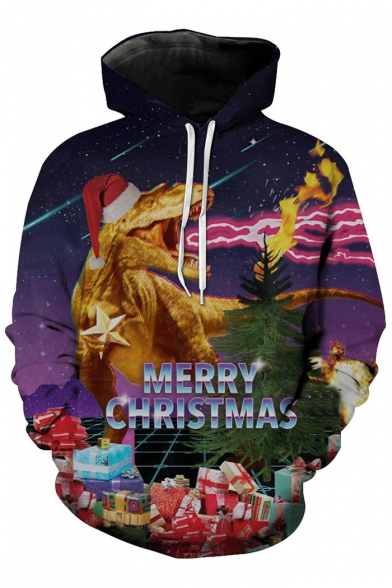 Loose Oversize Gifts Dragon Fashion Fire Unisex Printed Hoodie Christmas PxwBFFqX