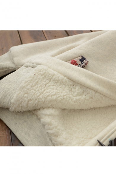 Winter's Cartoon Sleeve Single Coat Warm Long Deer Breasted Printed Hooded rr5gpwq