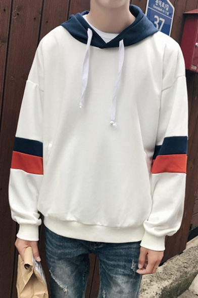 Loose Oversize Chic Color Block Leisure Casual Sports Hoodie