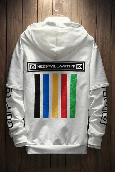 Hip Hop Street Style Fashion Letter Pattern Long Sleeve