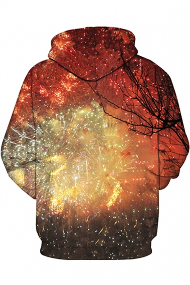 Long Hoodie Digital Unisex Fashion Sleeve Fireworks Sports New Pattern 7xqXnU