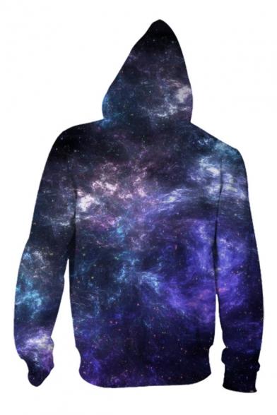 Couple Galaxy Stylish Zip Hoodie Up for Digital Printed New Sleeve Long Hf1qfFw