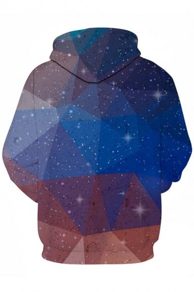 New Stylish 3D Geometric Galaxy Pattern Casual Loose Unisex Long Sleeve Hoodie