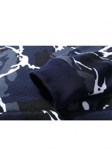 Fashion Hoodie Sleeve Camouflage Basic Unisex Pattern Long Sports Classic fAE8qxqa5w