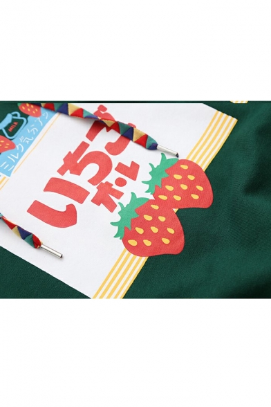 Hoodie Strawberry Fashion Long Loose Arrival Sleeve Letter Pattern New 1UgTqg