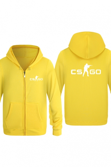 Zip Up Printed Counter Unisex Strike GO New Fashion Hoodie CS Sleeve Long q78fxSw
