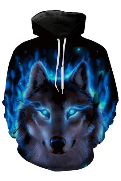 3D Fashion War Wolf Pattern Long Sleeve Casual Oversize Unisex Hoodie