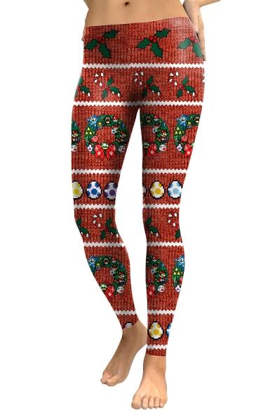 Новая Коллекция Мода Рождественские Подарки Картины Спортивные Леггинсы