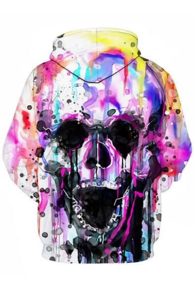 Sports Pattern Casual Hot Popular Long Digital Fashion Hoodie Sleeve Skull 7PgqX