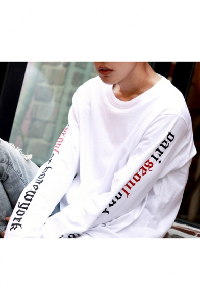 New Arrival Fashion Street Style Letter Printed Long Sleeve Sports Sweatshirt